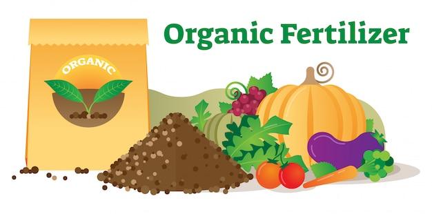 概念的な有機肥料