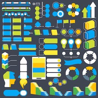 インフォグラフィックデザイン要素のコレクション