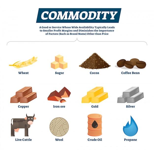 経済商品の原材料および商品