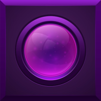 紫色の光沢のあるボタン