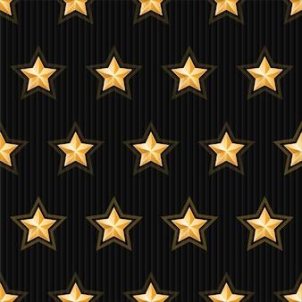金の星のシームレスパターン