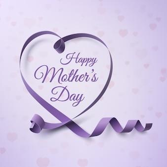 Счастливый день матери шаблон поздравительной открытки.