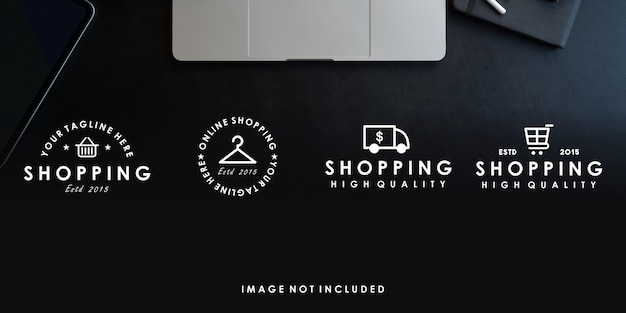 Интернет-магазин премиум логотип дизайн шаблона