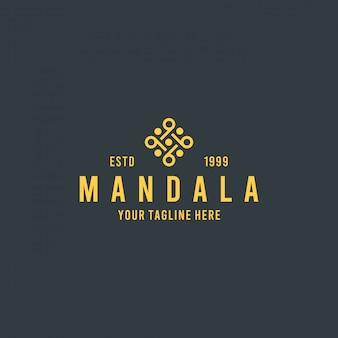 Плоский желтый цветок дизайн логотипа