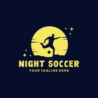 Шаблон логотипа ночной футбол