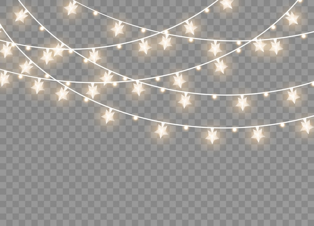 Светящиеся гирлянды иллюстрации