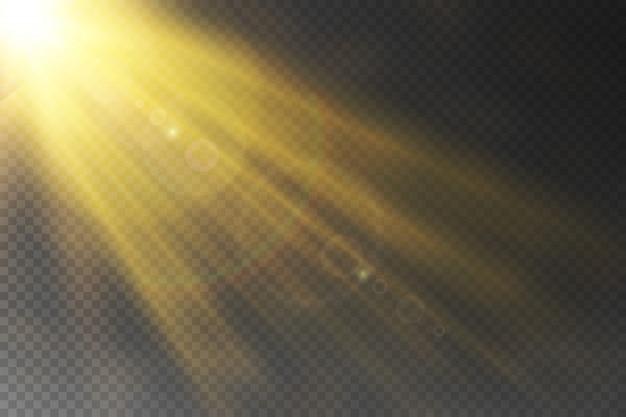Вектор прозрачный эффект солнечного света специальный объектив вспышки света.