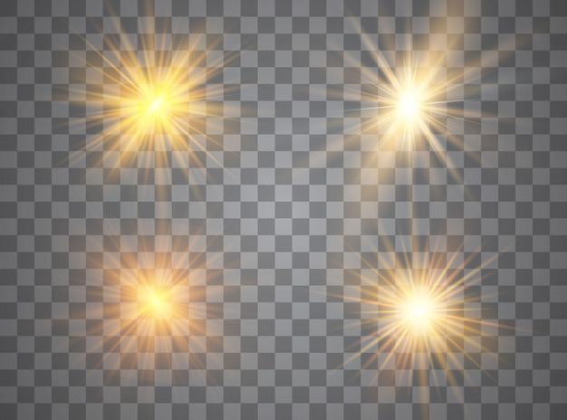 光輝き効果の星。輝く魔法のほこりの粒子。