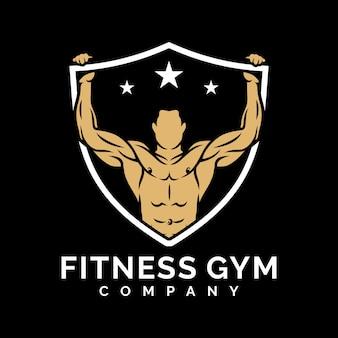 Фитнес-зал дизайн логотипа вдохновение