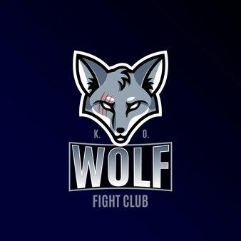 Спортивный логотип. волк со шрамом.