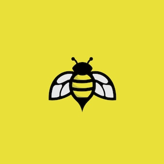 Пчела логотип на желтом