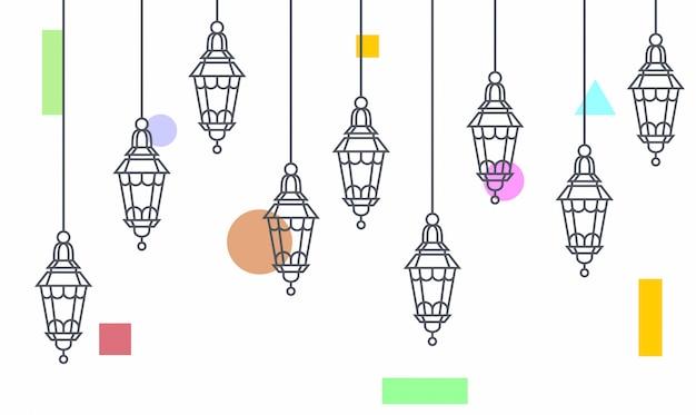 吊りランプ照明