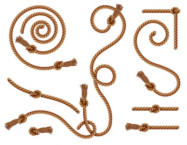 Кистевые занавески и плетеные канаты с узлами и кисточками