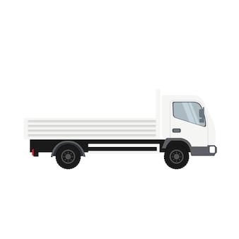 白い色の貨物トラック