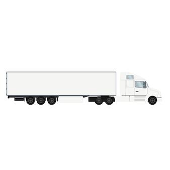 冷蔵室のコンテナトレーラートラック