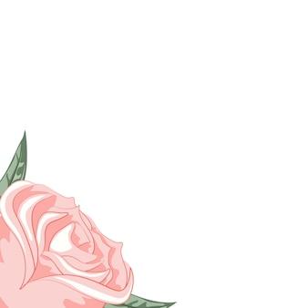 献身的な美しいバラのフレーム
