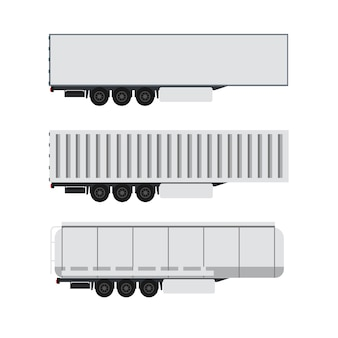 トレーラートラックと貨物コンテナーデザイン