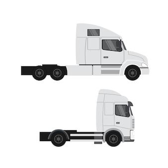 貨物トラックの設計。重い運搬トレーラー