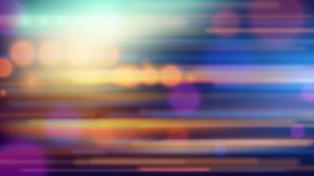 Скорость движения на фоне дороги ночью. абстрактная иллюстрация