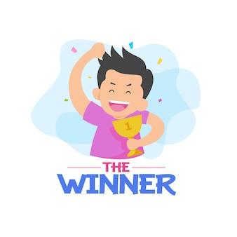 Победитель с символом персонажа