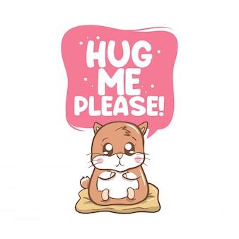 かわいいモルモットと私を抱きしめて