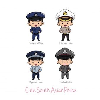 かわいい南アジア警察制服