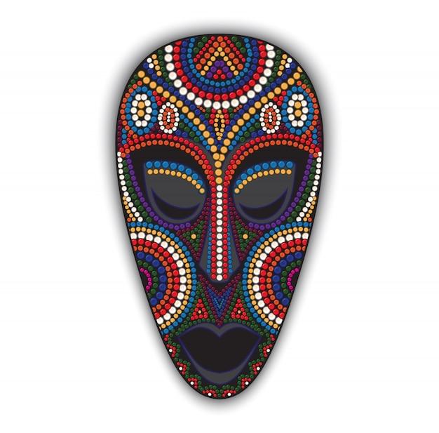 カラフルなアフリカのマスク。