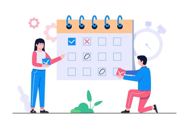 Иллюстрация концепции управления расписанием