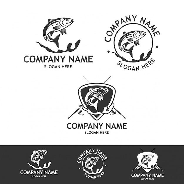 漁業会社のロゴコレクション