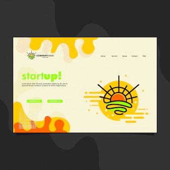Шаблон целевой страницы для запуска бизнеса с восходом солнца