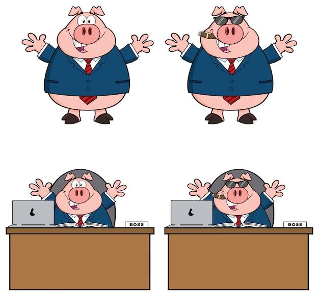 豚の漫画のマスコットキャラクター