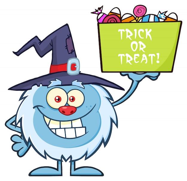 魔女帽子とイエティ漫画のマスコットのキャラクター