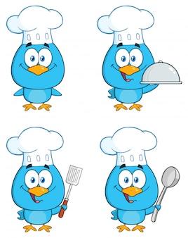 かわいい青い鳥の漫画のキャラクター