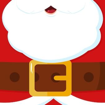 サンタクロースメッセージブランクバナー