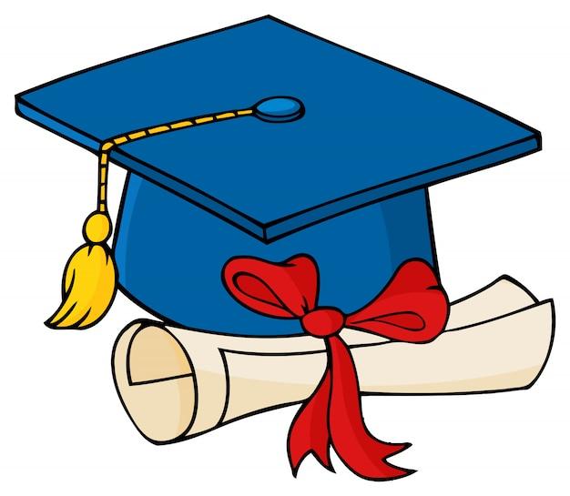 ディプロマを持つ大学院のキャップ