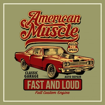 Американский плакат мышц