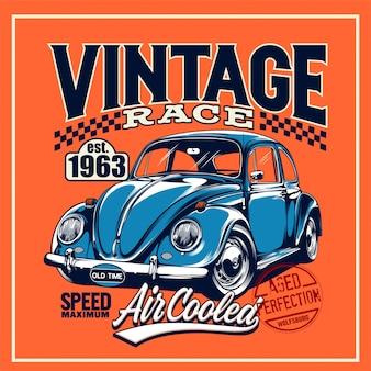 Винтажный плакат гонки