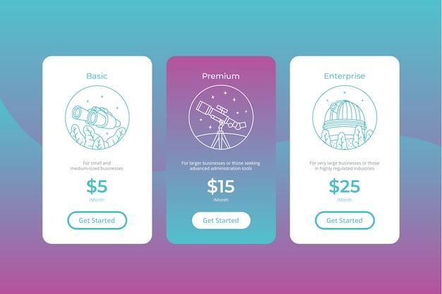 Современный шаблон таблицы цен