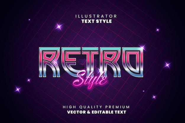 Текстовый эффект - ретро футуристический стиль