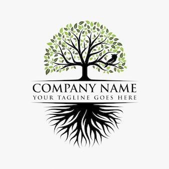 Абстрактный яркий дизайн логотипа дерева