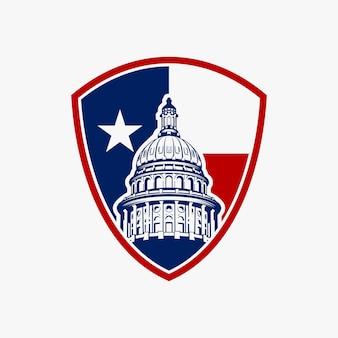 国会議事堂のドームのロゴデザインのインスピレーション