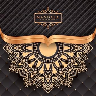 豪華なマンダラ装飾的な民族要素の背景