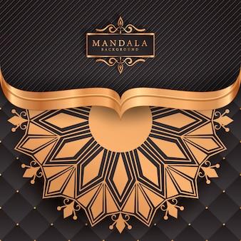 Роскошный фон мандалы с золотой арабеской