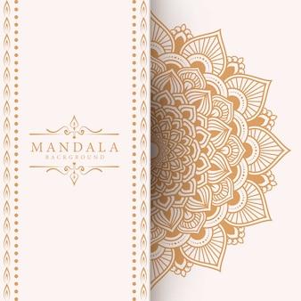 エレガントで豪華なマンダラデザインの装飾的な背景