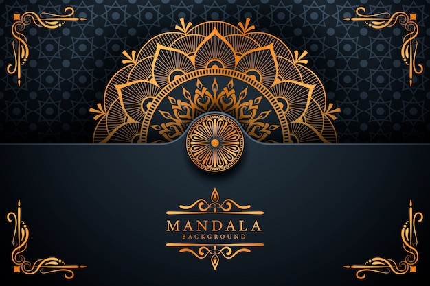 ラマダンスタイルの豪華なエレガントなマンダラの背景