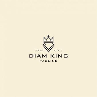 Бриллиантовый король логотип винтаж