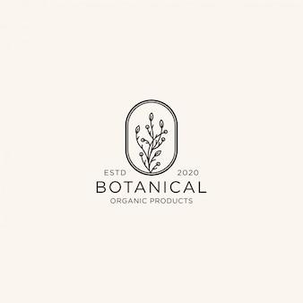 Ботанический логотип дизайн шаблона