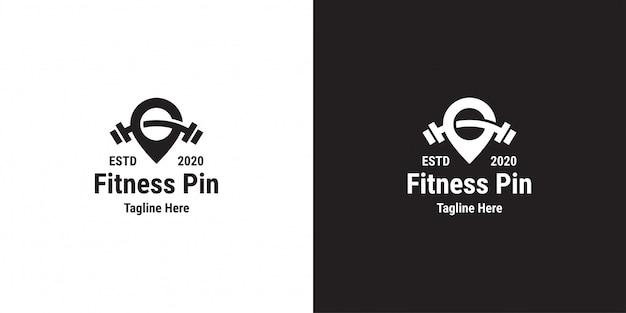 Шаблон дизайна логотипа фитнес-пин