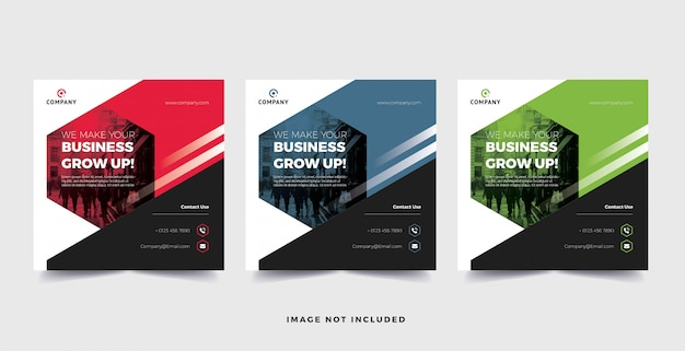 Корпоративный бизнес баннер социальные медиа