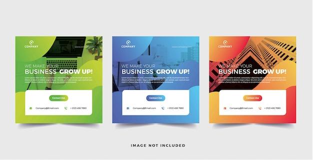 Корпоративный бизнес баннер социальные медиа градиент стиль